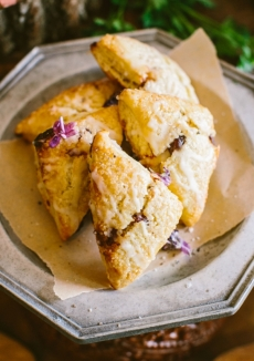 Blackberry + Lemon Scones
