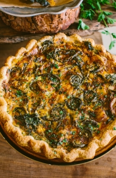 Quiche with Fiddlehead Ferns