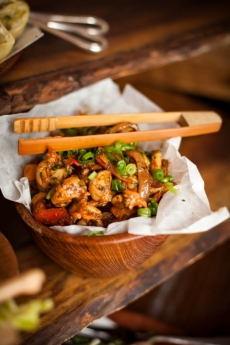 Baja Style Shrimp with Lettuce Wraps