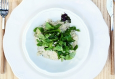 Vegan Risotto with Sorrel