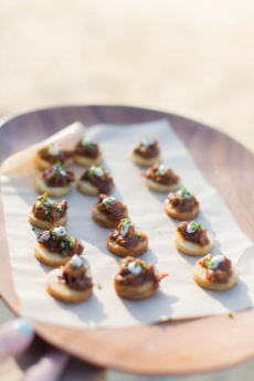 Lentil Cake with Spicy Lamb Crudo